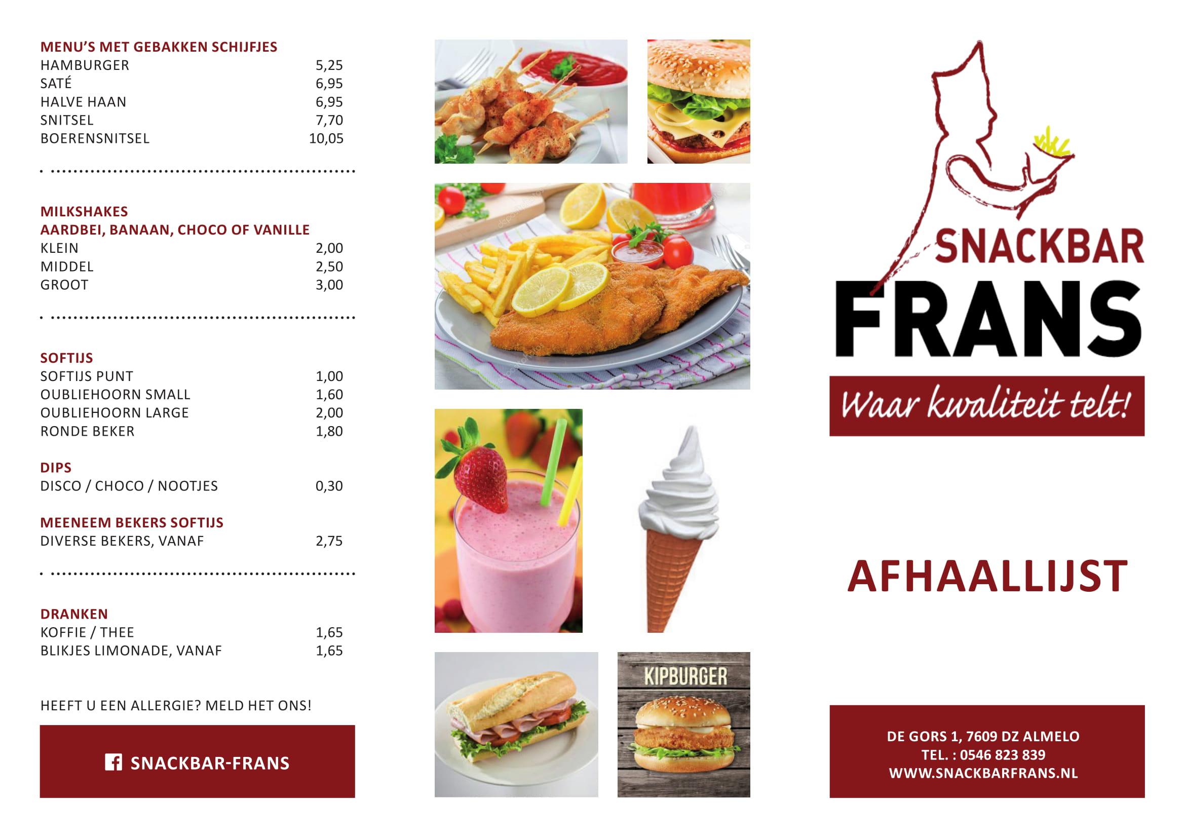 Snackbar Frans - afhaalkaart-1